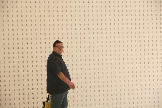 Vežbom do samoubistva: 3D tapet za toalet – mustra Žileti Vladimir Perić, Bijenale savremene umetnosti u Veneciji, 2013