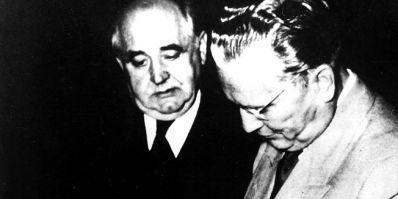 Miroslav Krleža i J. B. Tito