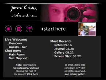 Jenny Cam, web page