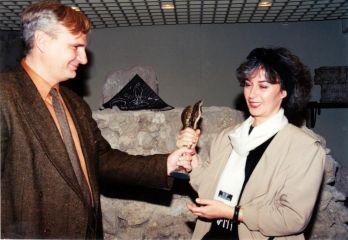 Ivana Stefanović dobija nagradu FEDOR, 1991.