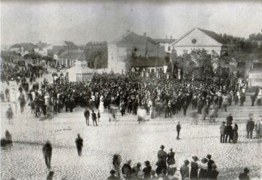 Trg Slavija, proslava Prvi Maj, 1912. godina