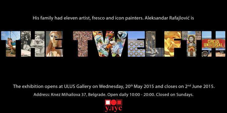 Exhibition Twelfth, invitation card, gallery ULUS