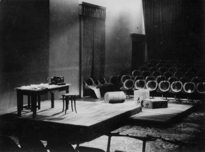 Scenografija Afere Primoža Kozaka Oder 57 Foto: Ikonoteka Slovenskega gledališkega inštituta